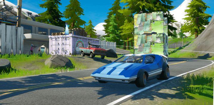 """Werbebild von Epic Games: Bald wird es in """"Fortnite: Battle Royale"""" wohl fahrbare Autos geben"""