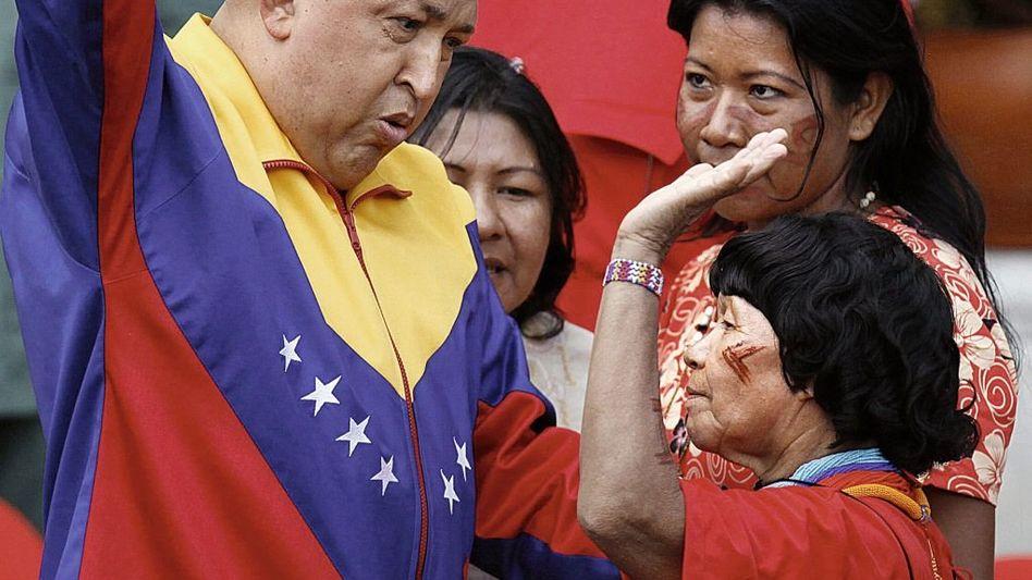 Staatschef Chávez, Indianer: Gebt Kueka zurück