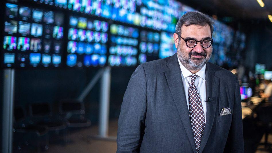IOC-TV-Boss Yiannis Exarchos hat allen Grund, zufrieden zu lächeln