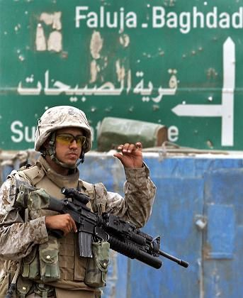 US-Soldat vor Falludscha: Aufmarsch im sunnitischen Dreieck