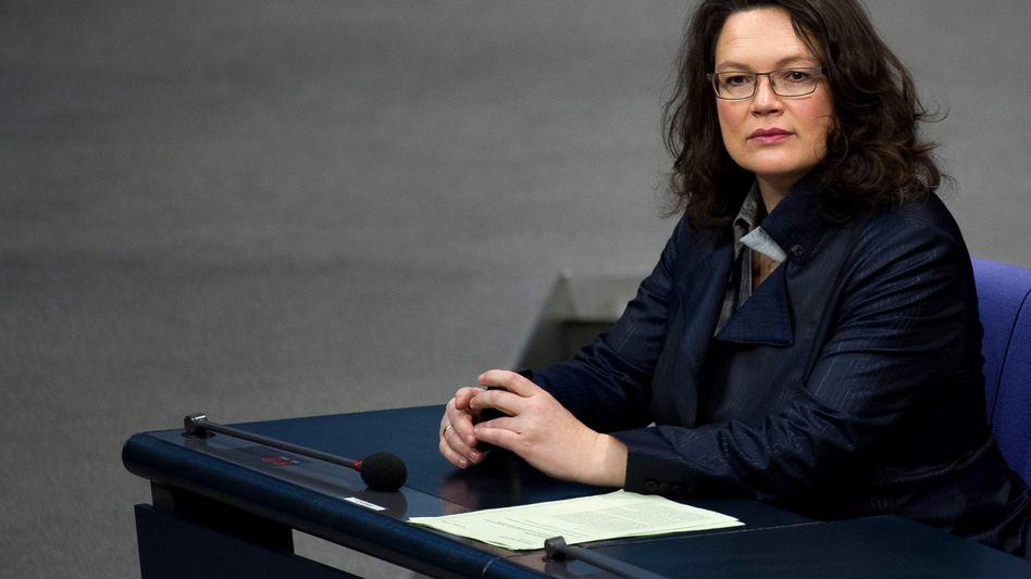 """Arbeitsministerin Nahles: """"Wir brauchen eine neue Arbeitskultur"""""""