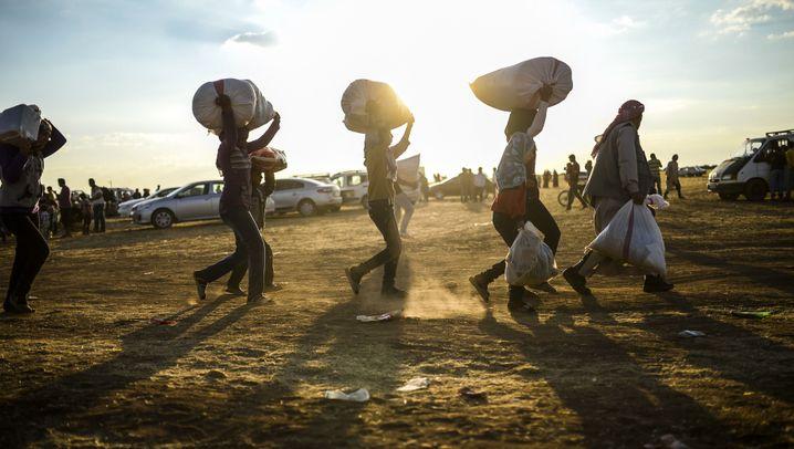 Syrische Kurden: Flüchtlingsdrama an der Grenze