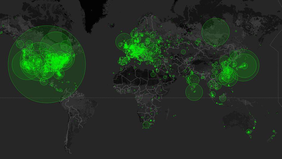 """Weltkarte der offenen Netzspeicher: """"Zum größten Teil einfach Fahrlässigkeit"""""""