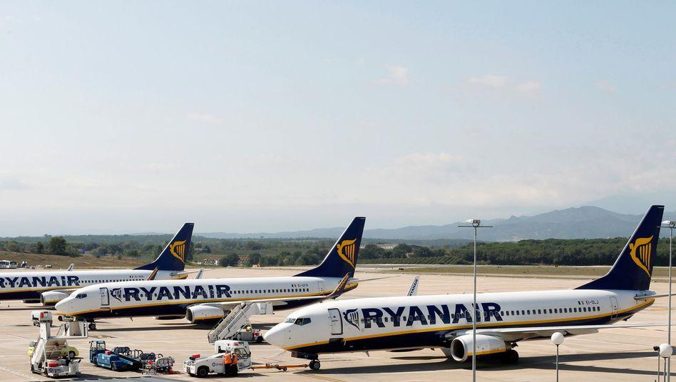 Maschinen der Fluglinie Ryanair: Klima der Angst?
