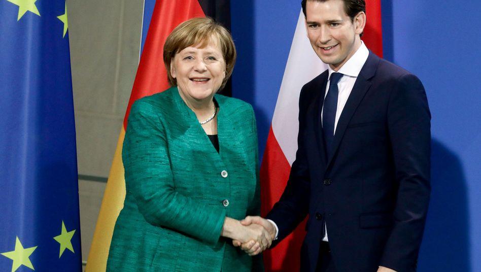 Angela Merkel, Sebastian Kurz