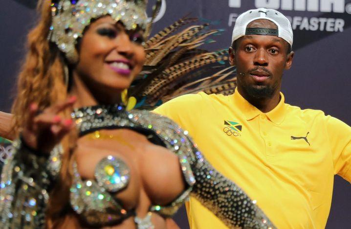 Tänzerin, Usain Bolt