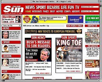 """Bush-Interview für das britische Murdoch-Massenblatt """"The Sun"""""""