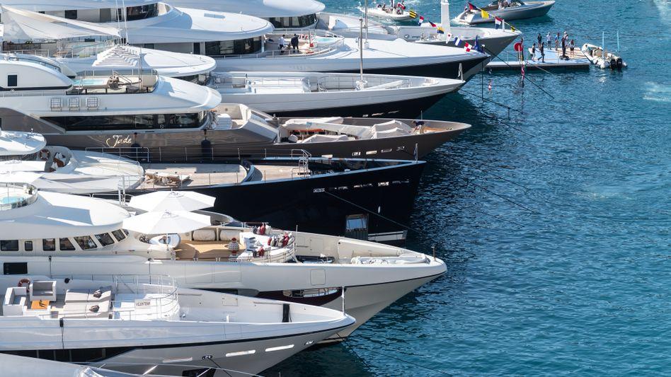 Schöne reiche Welt: Jachten in Monaco