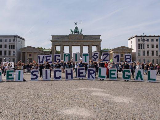 Demonstration für die Abschaffung des § 218 in Berlin 2020