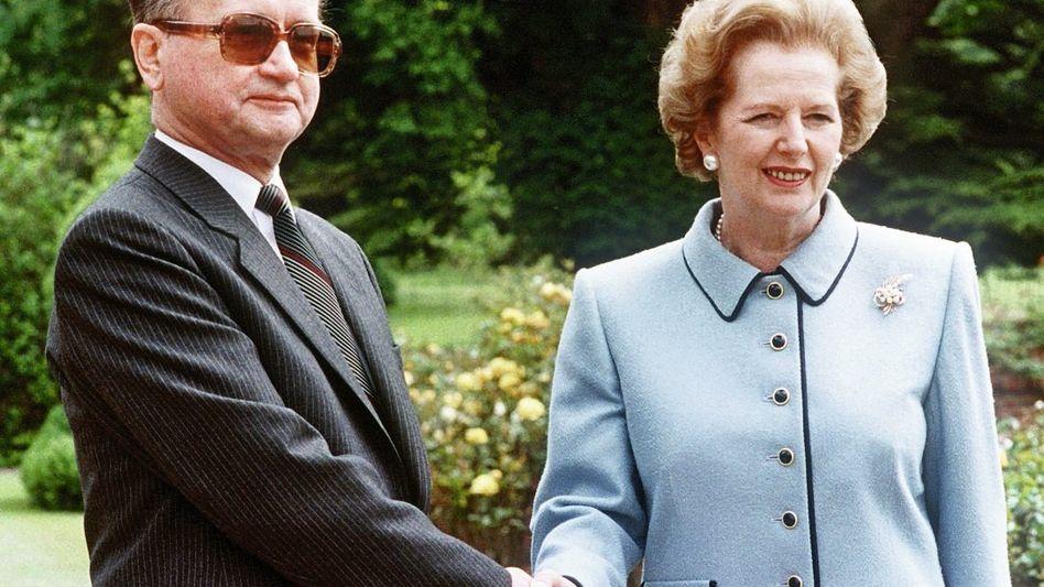 Jaruzelski, Thatcher 1989