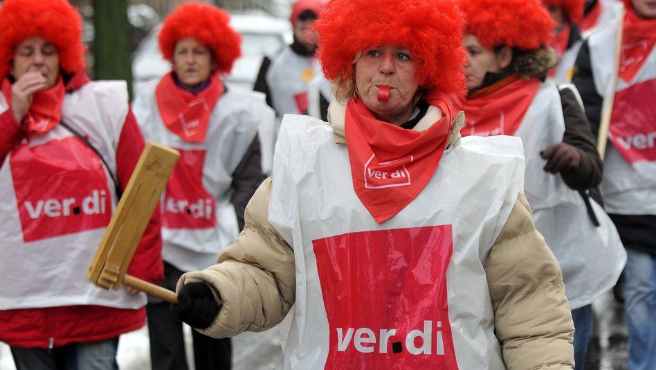 Ver.di-Protest in Aachen (Archiv): Fortsetzungen der Verhandlungen am 9. März