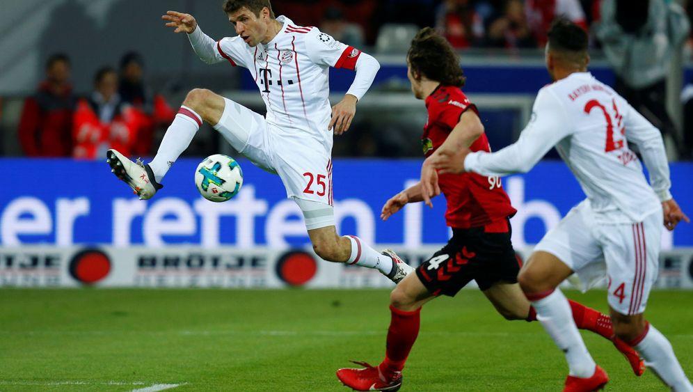 Bayerns Sieg gegen Freiburg: Ein Müller-Tor, das keines war