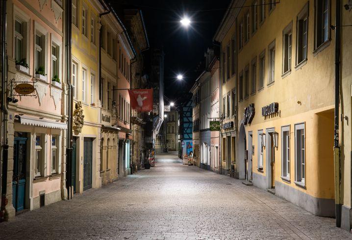Leere Straße in Bamberg