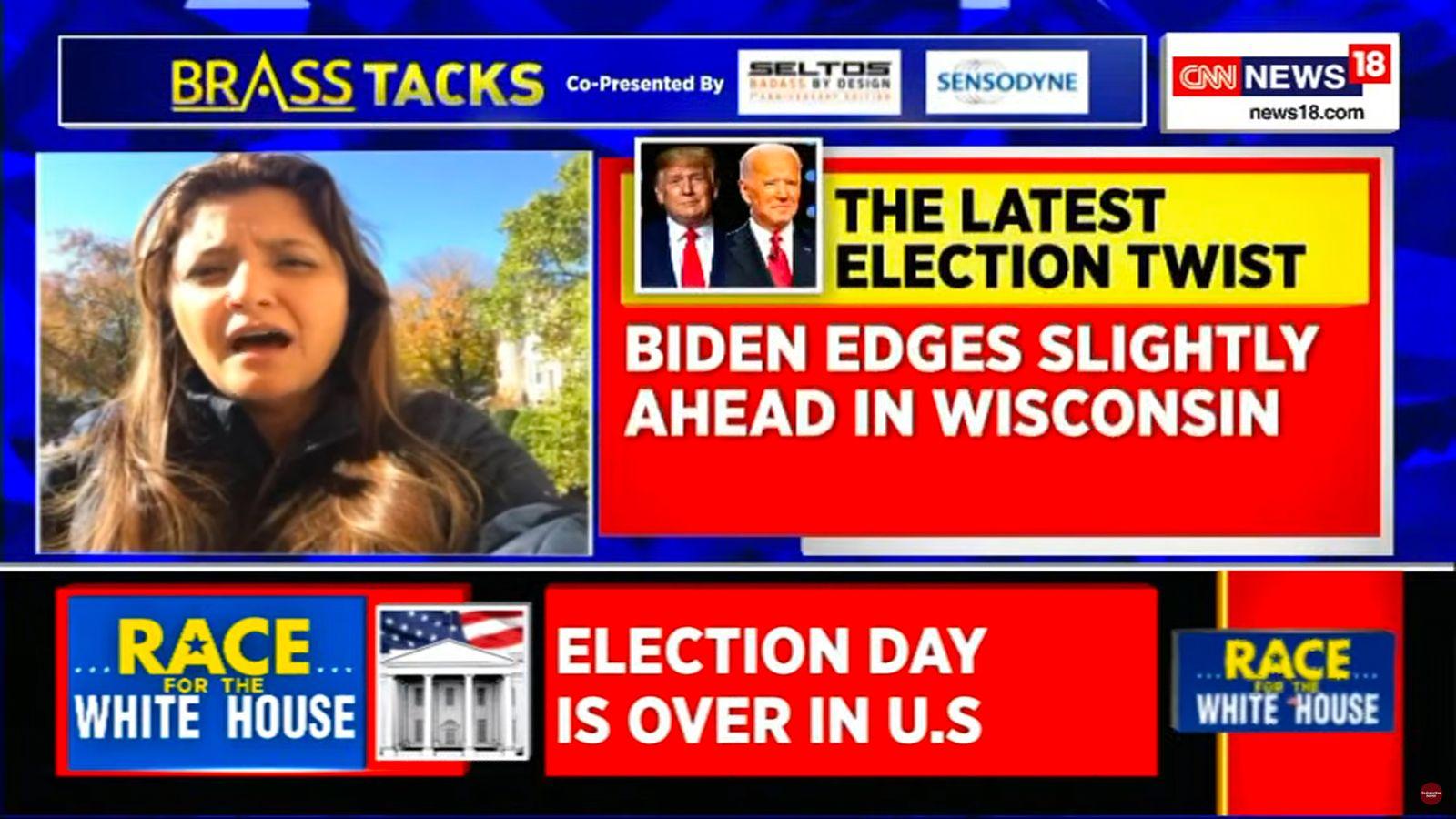 CNN Berichterstattung Wahl USA SCREENSHOT NUR ALS ZITAT