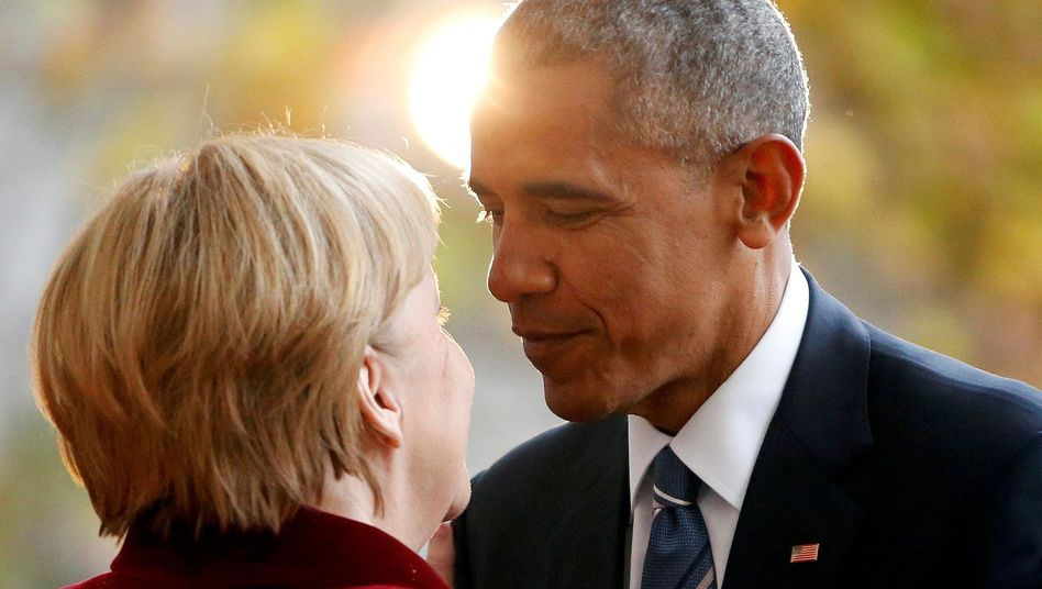 German Chancellor Angela Merkel and US President Barack Obama in Berlin