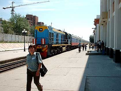 Neben der Spur: Die chinesisch-russische Grenze brachte etwas Auslauf für die Passagiere