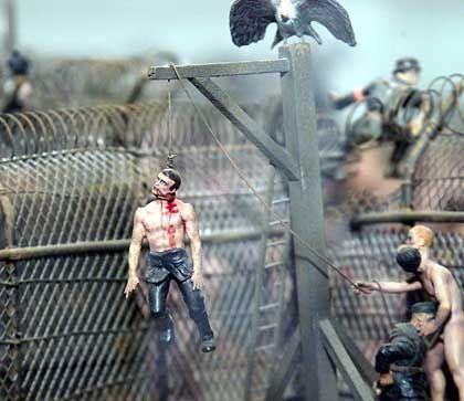 """Ausschnitt aus Holocaust-Installation """"Hell"""" von Jake und Dinos Chapman: Tragödie für die Kunstwelt"""