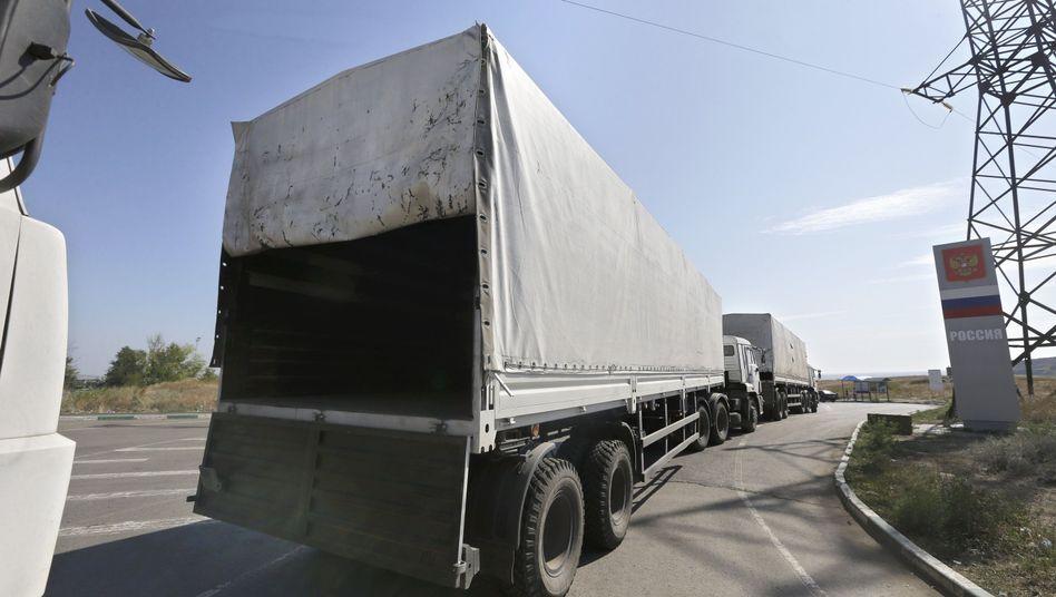 Russischer Lkw-Konvoi auf dem Rückweg: Eskalation ausgeblieben