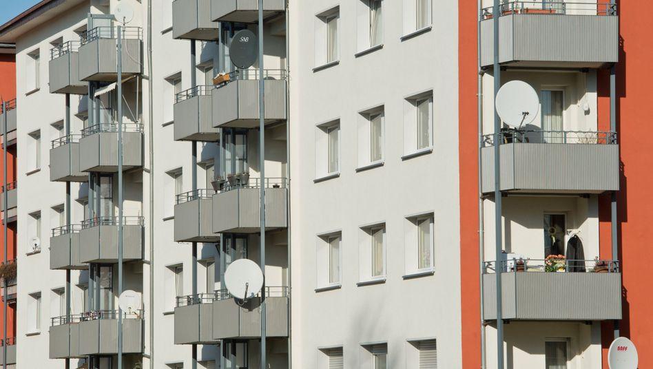 Ein Mietshaus in Darmstadt - der Wohnungsmarkt im Rhein-Main-Gebiet ist äußerst angespannt.