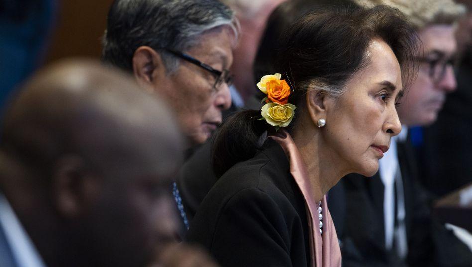 Wird zu den Vorwürfen vor dem Internationalen Gerichtshof Stellung nehmen: Myanmars De-facto-Regierungschefin Aung San Suu Kyi