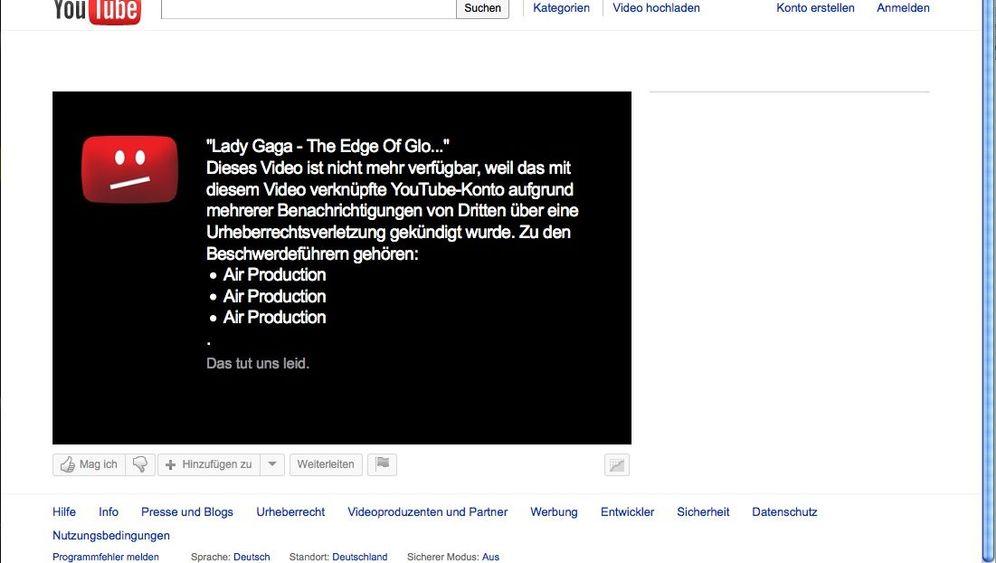 Online-Sperre: YouTube schmeißt Lady Gaga raus