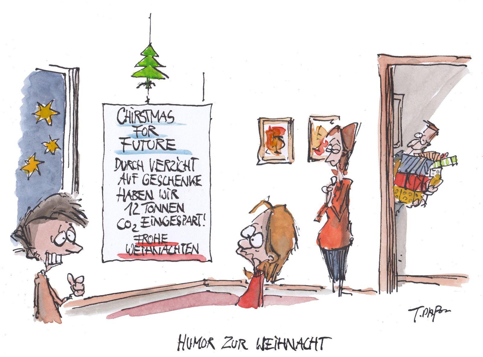 EINMALIGE VERWENDUNG Cartoon 26.12.2019 / Plassmann