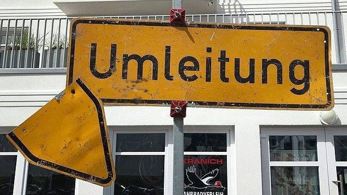 Straßenschild auf Norderney
