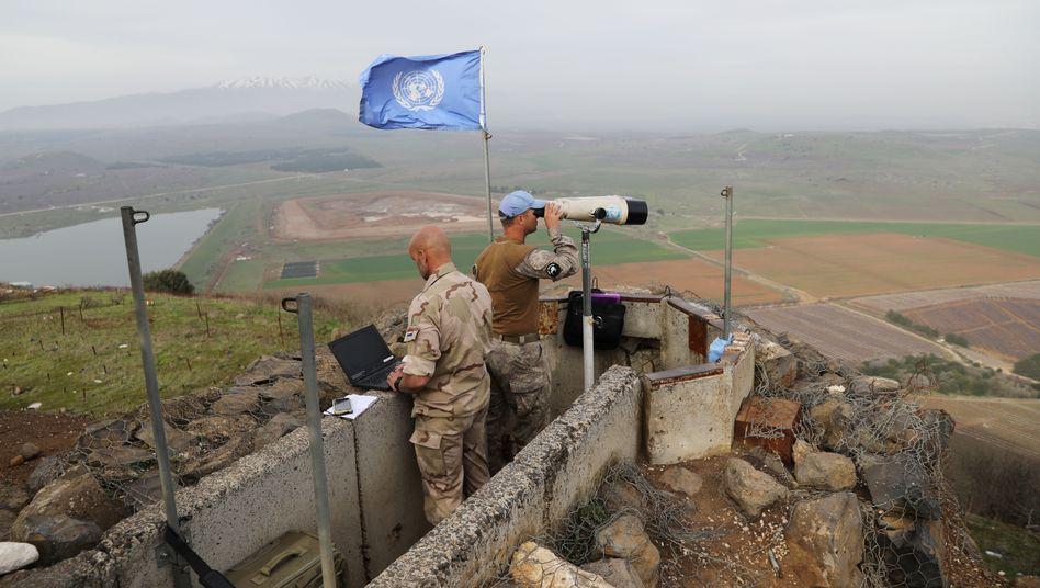 Blauhelme auf den Golanhöhen