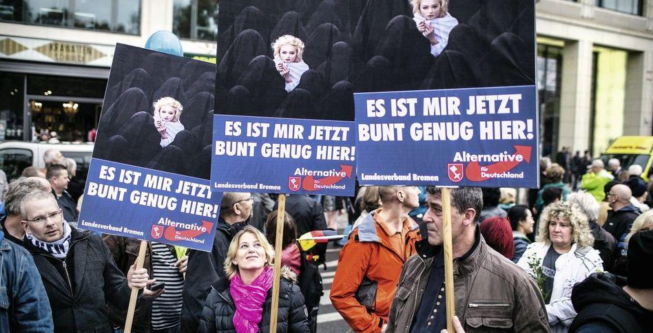 AfD-Anhänger in Berlin: Eine Welt, in die selten ein Sonnenstrahl fällt