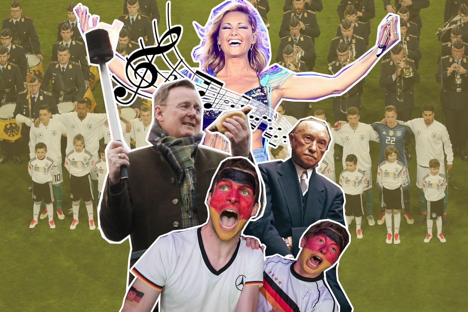 Collage Nationalhymne
