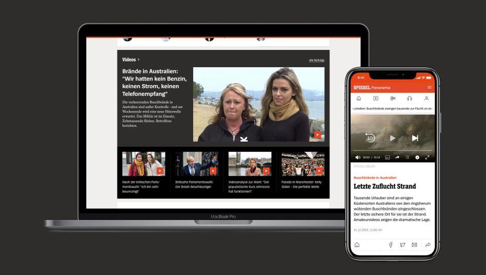 Die Videoleiste: Auf der Startseite finden Sie die aktuellsten Videos aus der Redaktion