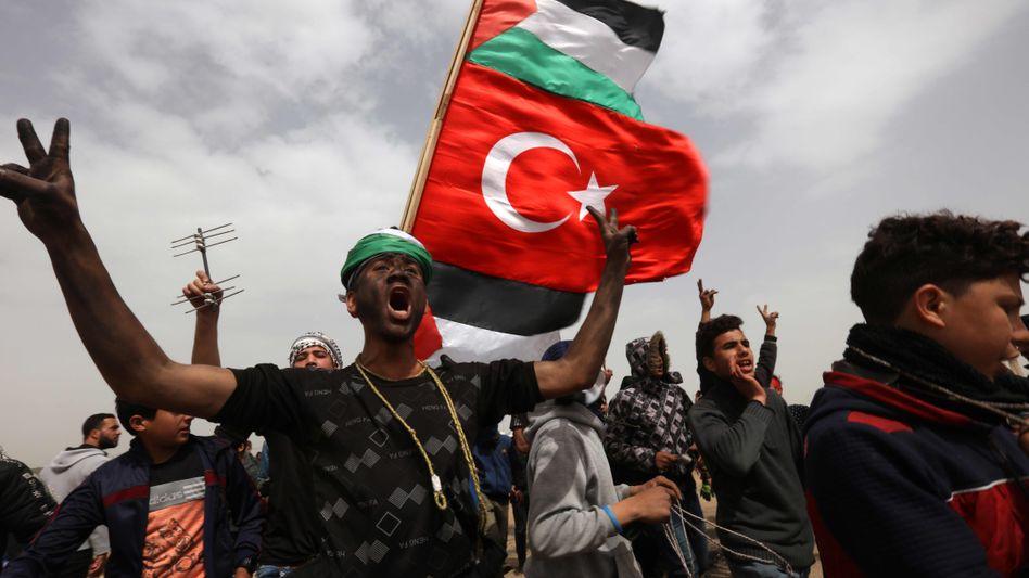 Palästinenserprotest an der Grenze zu Gaza