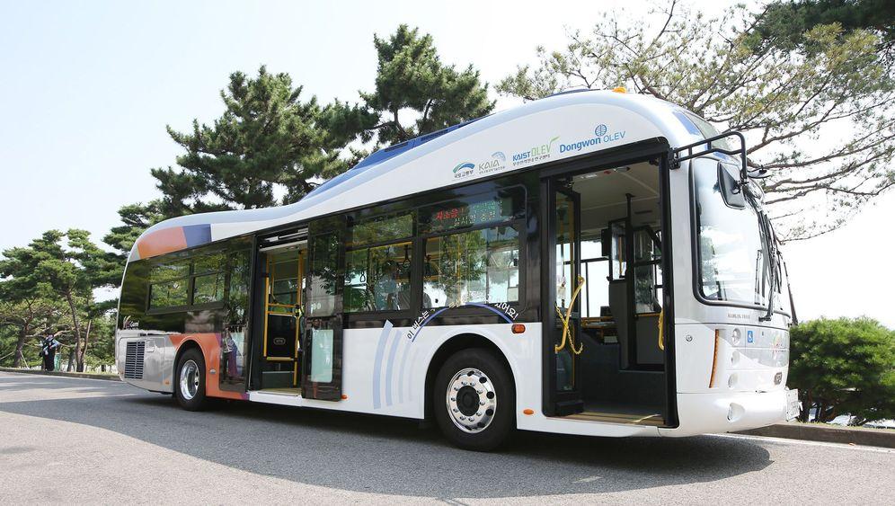 Induktionstechnik im Test: Stromlinienbus