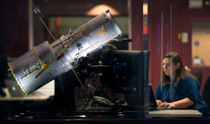 »Hubble«-Modell im Nasa-Kontrollzentrum am Goddard Space Flight Center in Greenbelt