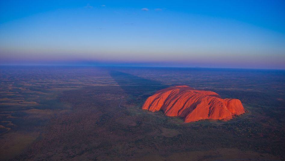 Der Uluru im Nordterritorium in Australien