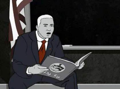 """Eminem als Präsident im """"Mosh""""-Video: Panoptikum innenpolitischer Krisen"""