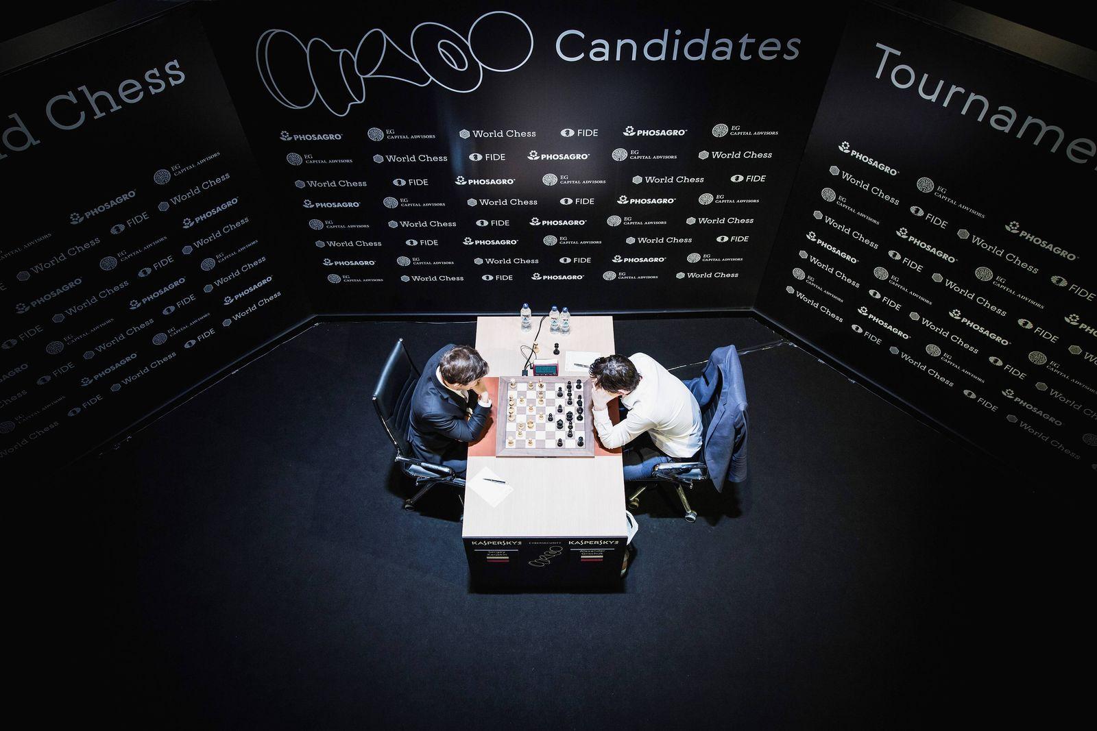 EINMALIGE VERWENDUNG Schach BErlin 2018/ Sergey Karjakin gegen Alexander Grischuk