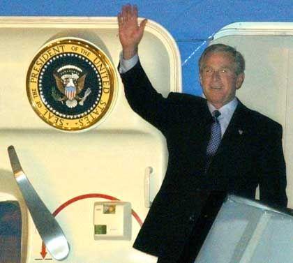 Bush kam am Montagabend in Scharm al-Scheich an
