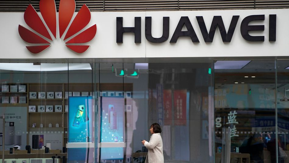 Huawei-Logo in Shanghai
