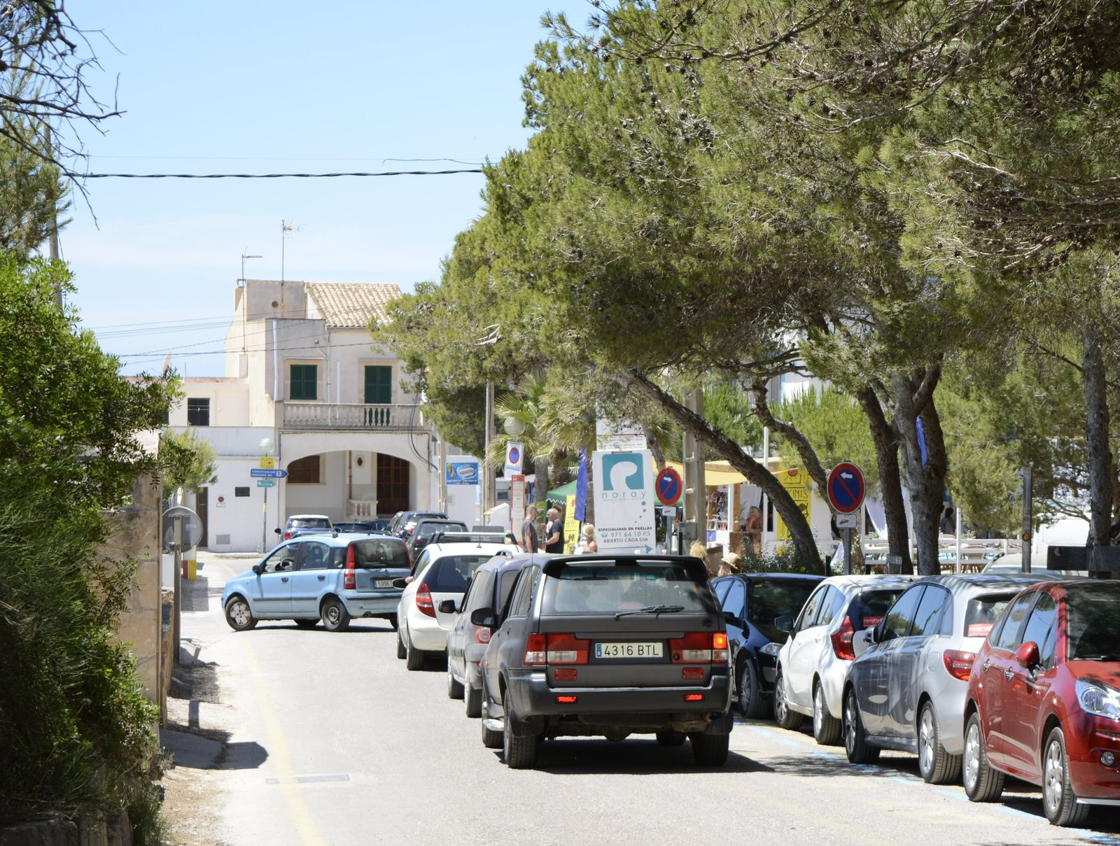EINMALIGE VERWENDUNG Parknot am Traumstrand Mallorcas