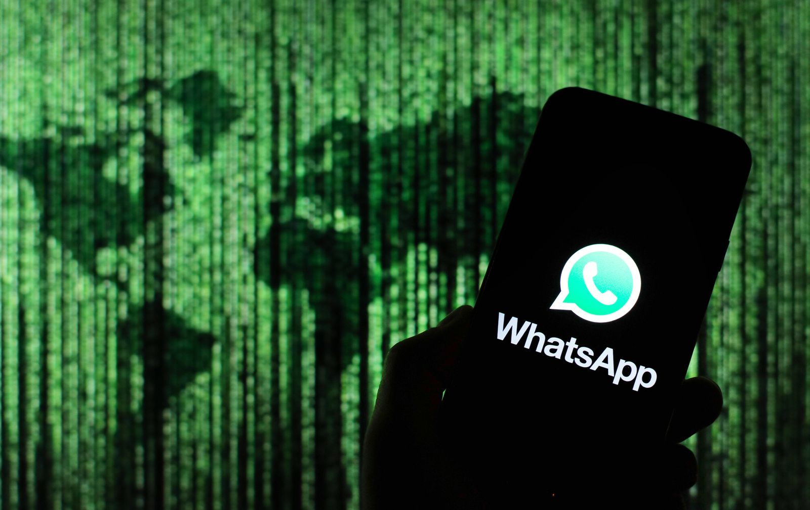 February 26, 2020, Poland: In this photo illustration a WhatsApp messenger app logo seen displayed on a smartphone. Pola