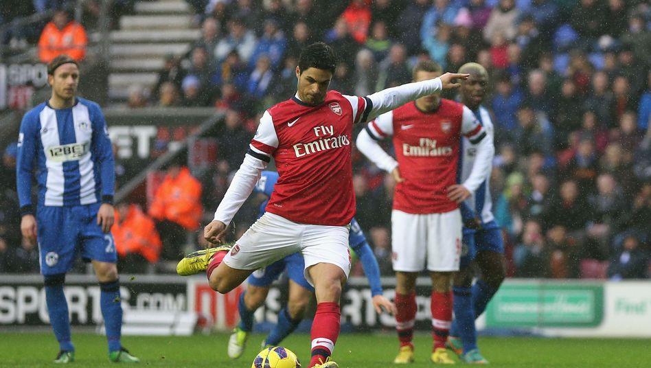Arsenal-Profi Arteta: Dritter verwandelter Elfmeter in dieser Saison