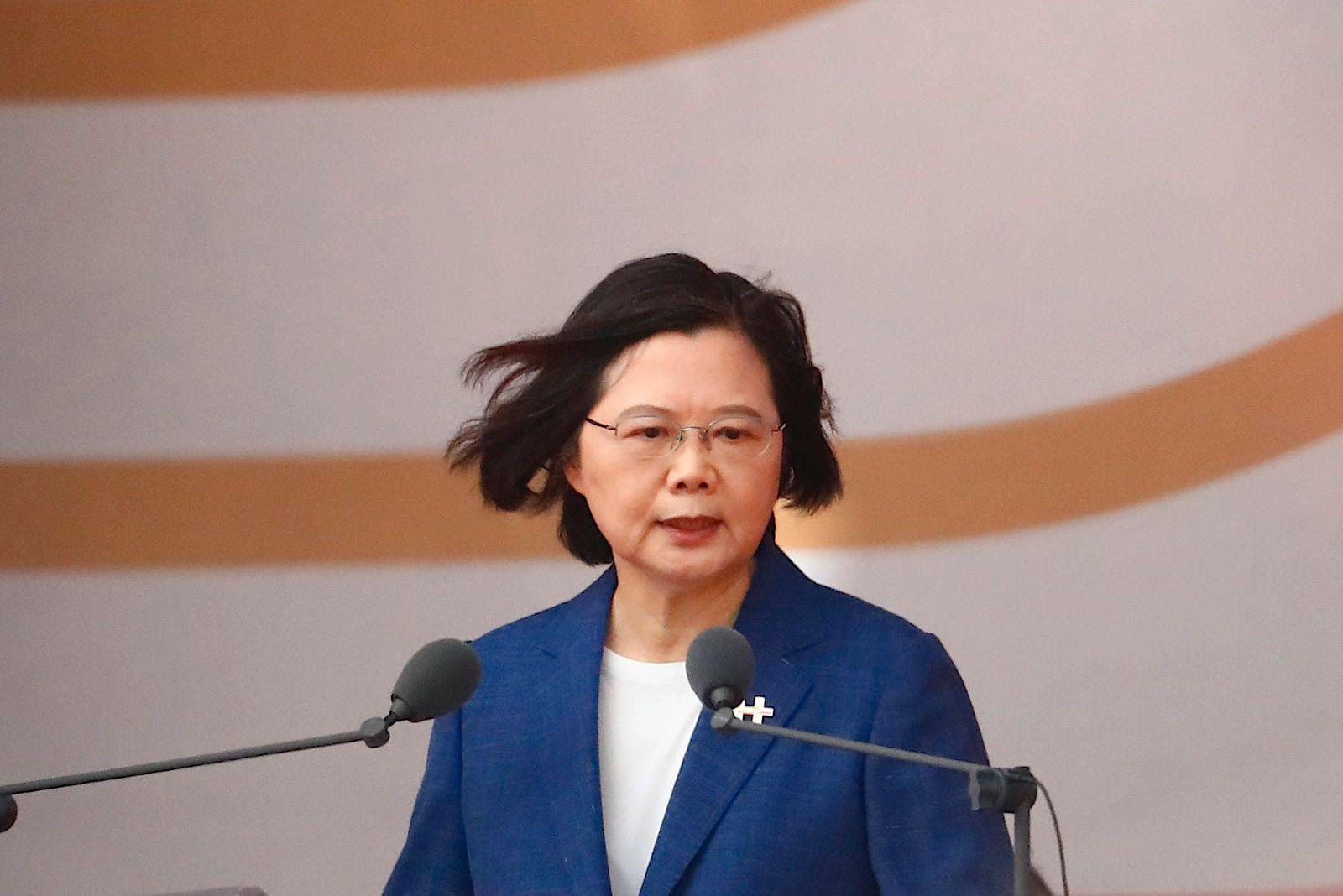 Taiwan: President Tsai Ing-wen speaks during Double-Tenth National Day Celebration