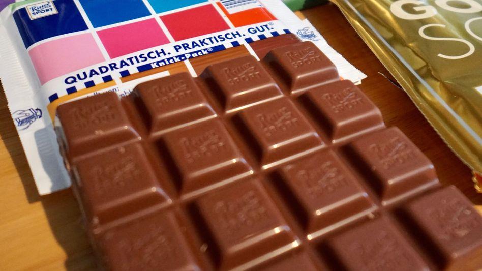Ritter-Sport-Schokoladen (Symbolbild): Neue Sorte mit Kakaosaft statt Zucker gesüßt
