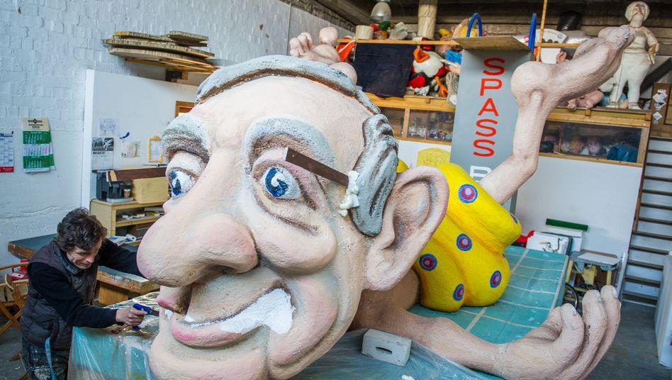 Karnevalswagen-Skulptur für den geplanten Schoduvel-Umzug am Sonntag: Enttäuschung in Braunschweig
