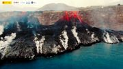Die Lava-Landzunge vor La Palma