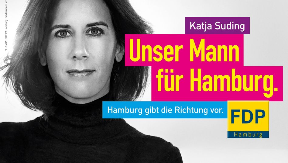 Wahlplakat der FDP in Hamburg: Kein tieferer Sinn, einfach mal anders