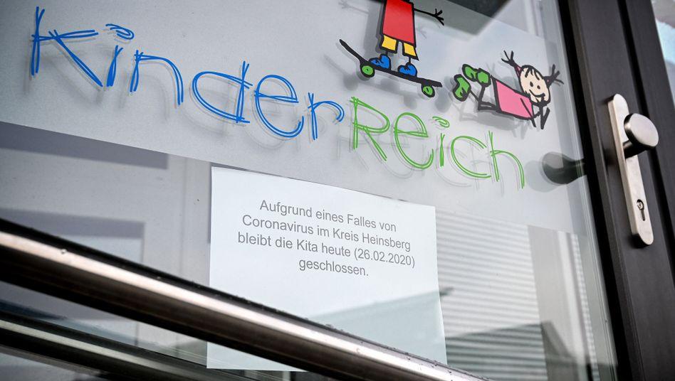 Eine geschlossene Kita im Kreis Heinsberg