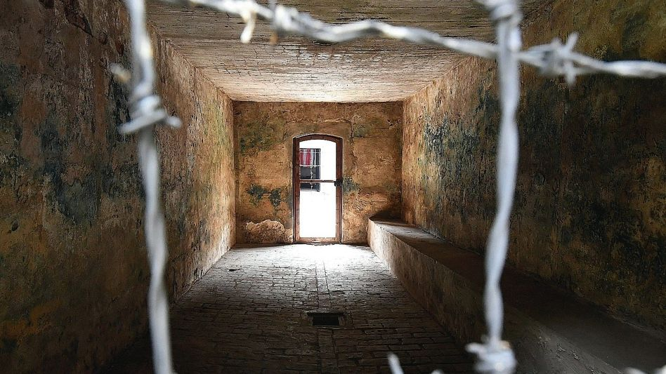 Gaskammer in Gedenkstätte KZ Stutthof: Konnte die Sekretärin Irmgard Furchner sehen, wie die Frauen dorthin geführt wurden?
