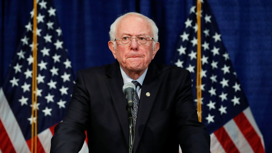 US-Senator Bernie Sanders bei der Pressekonferenz in Vermont nach dem bitteren Wahldienstag